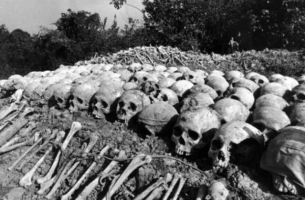 A minute part of the Killing Fields in Cambodia