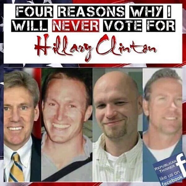 Four reasons not to vote for Hillary