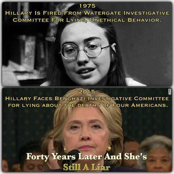 Hillary a liar then and a liar now