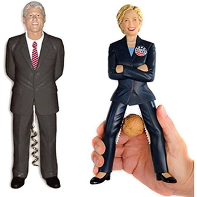 Hillary and Bill corkscrews and nutcrackers