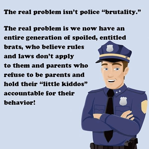 Problem isn't police brutality