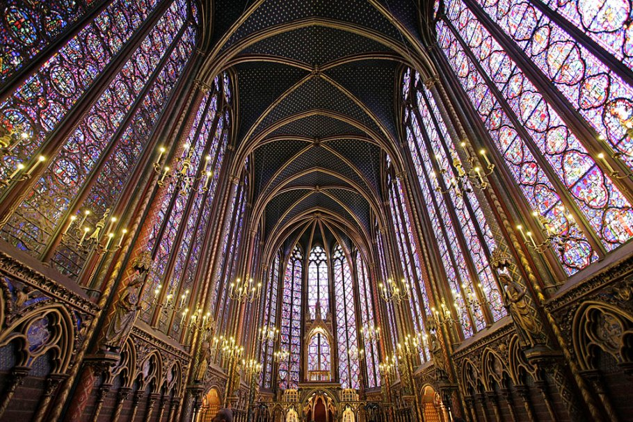 Thirteenth-century Sainte-Chapelle, Paris, one of the most beautiful religious spaces in the world.