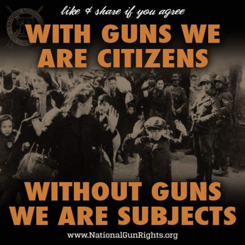Citizens with guns subjects without