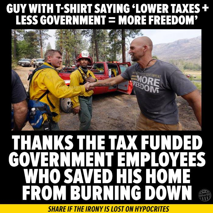 Firefighters are not big government