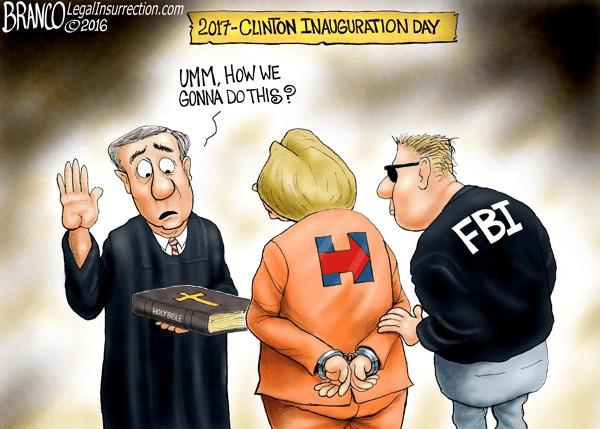 Hillary in handcuffs joke
