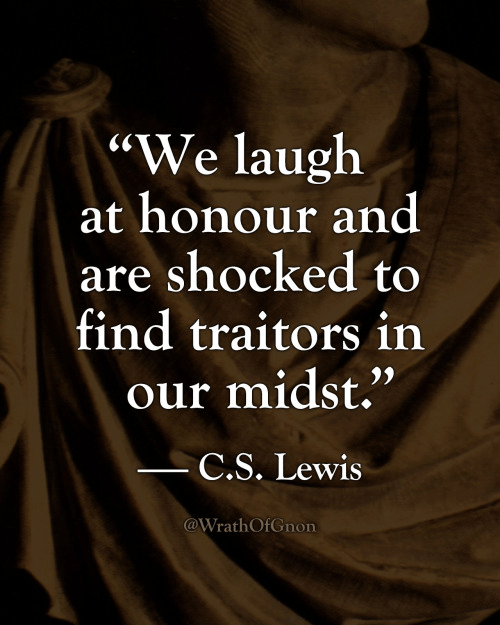 Laugh at honor traitors c. s. lewis