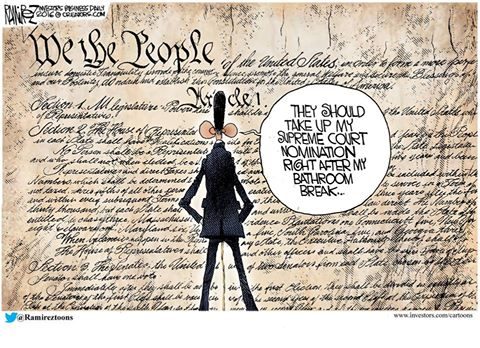 Obama pees on the constitution