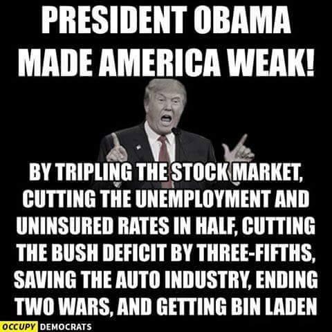 President Obama made America weak
