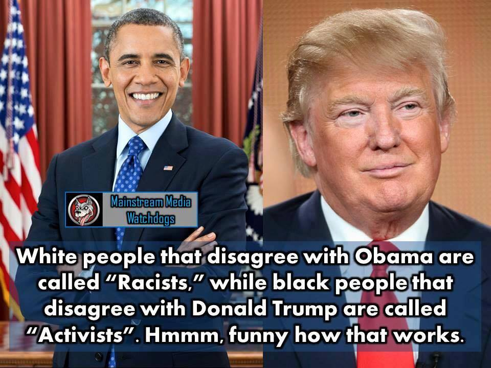 Racists versus activists obama versus trump