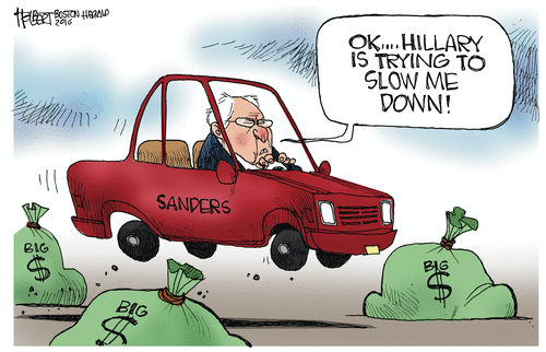 Bernie Hillary money