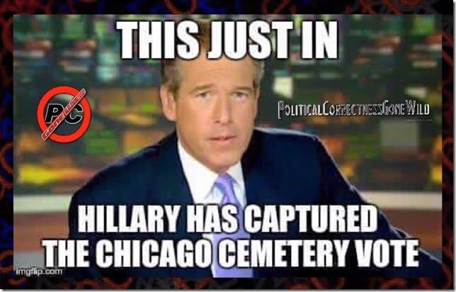Hillary Chicago cemetery vote