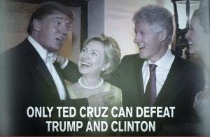 Ted Cruz defeating Trump and Clinton