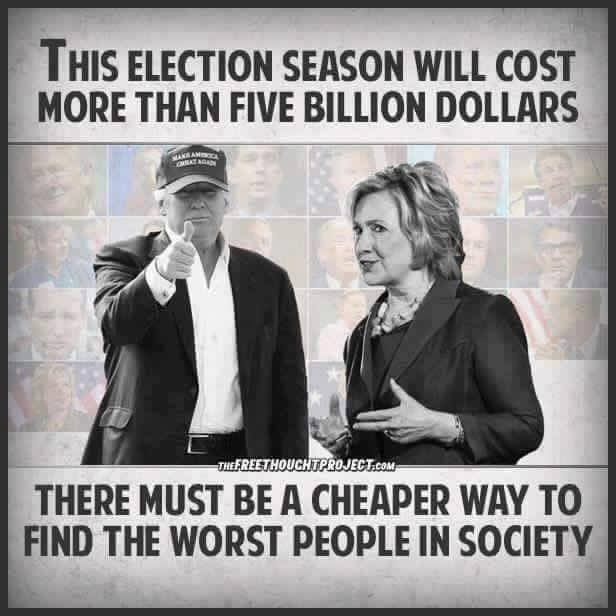 Trump Hillary Clinton expensive election