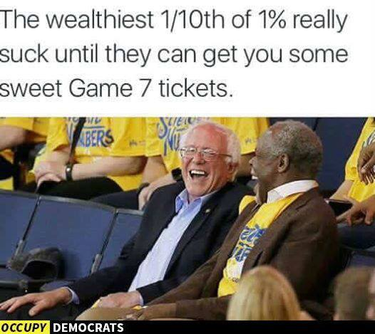 Bernie hypocrisy basketball game
