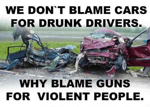 Guns cars drunks