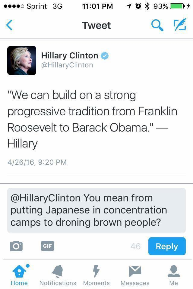 Hillary Progressive tradition discrimination