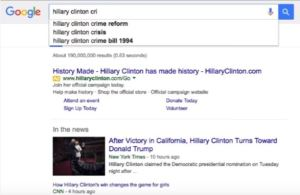 Google shills for Hillary