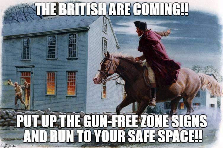 Guns safe space Paul Revere