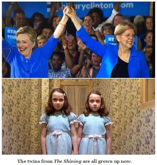 Hillary Elizabeth Warren Twins Shining
