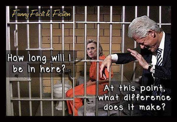 Hillary in prison what difference does it make