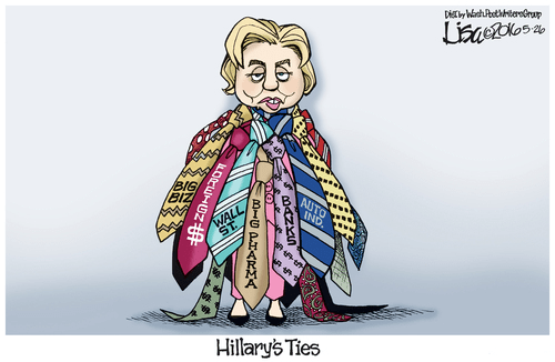 Hillary ties corruption