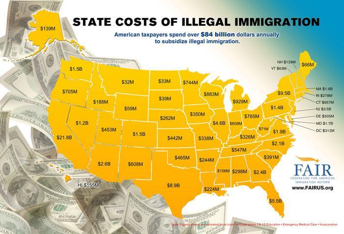 Immigration state costs