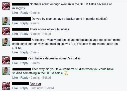 Stupid leftists women in STEM