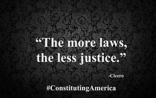 Wisdom Cicero more laws less justice