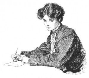 Bookworm Beat Woman Writing