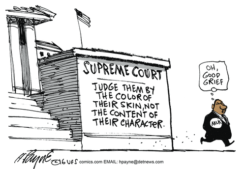 Blacks Supreme Court obsessed about race
