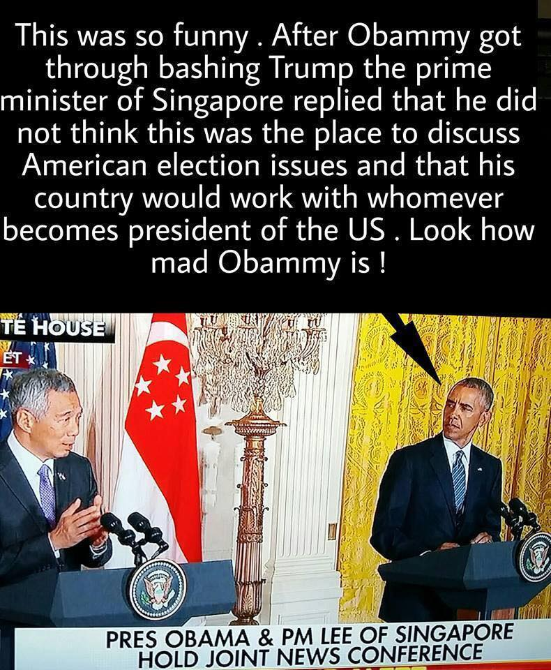 Obama inappropriate remarks in Singapore
