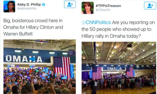 Trump versus Hillary rallies
