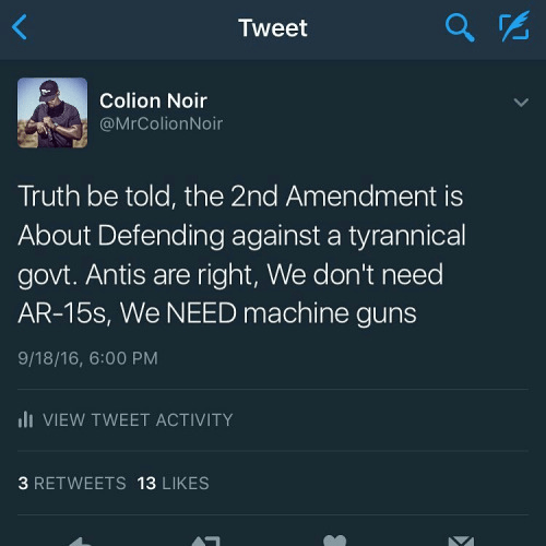 Guns Second Amendment about protesting gov