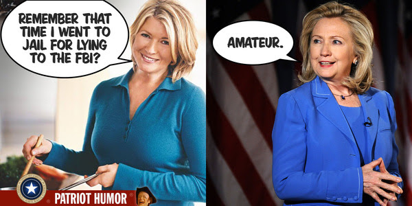 Hillary and Martha Stewart