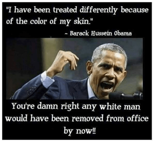Obama treated better skin color