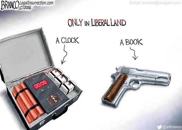 Stupid liberals logic gun book bomb