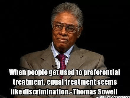 Wisdom preferential and equal treatment Thomas Sowell