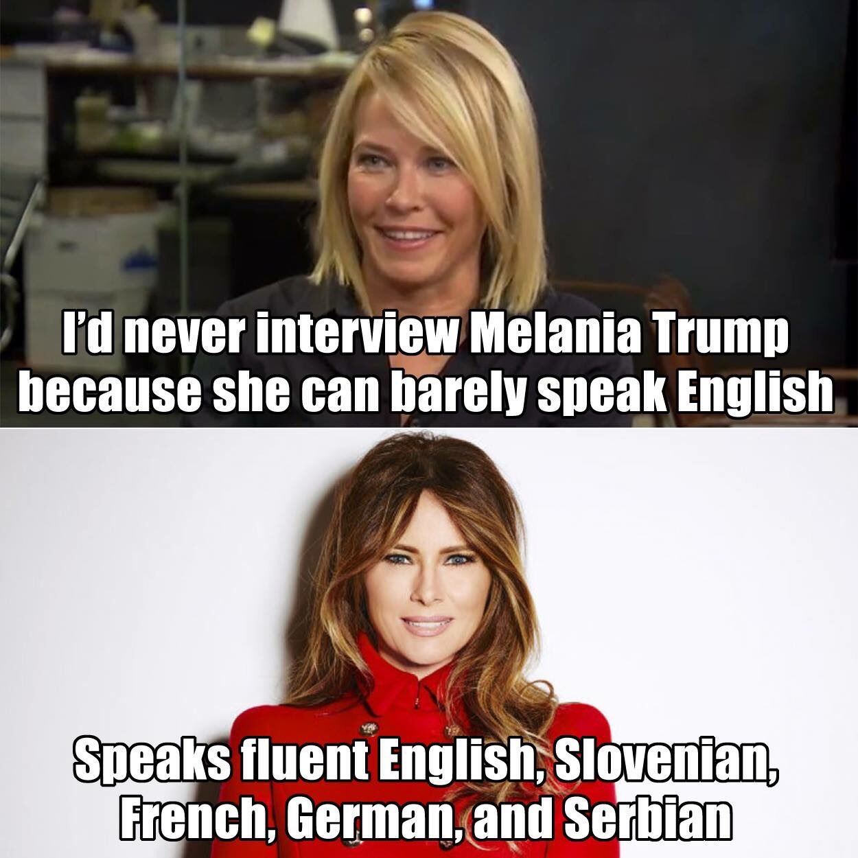 stupid-leftists-chelsea-handler-attacks-melanias-english