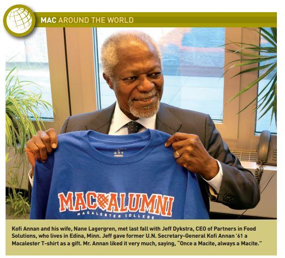 Kofi Annan Macalester Graduate