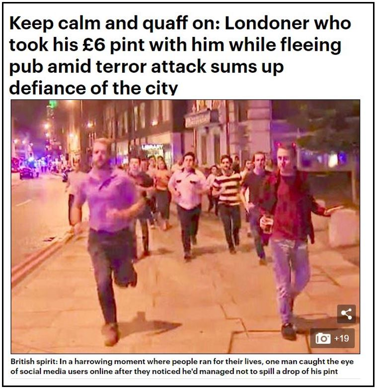 Islamic jihad London beer