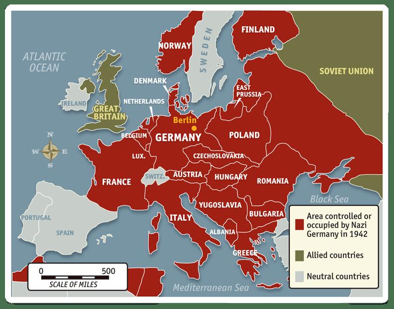 Nazi German conquests 1942