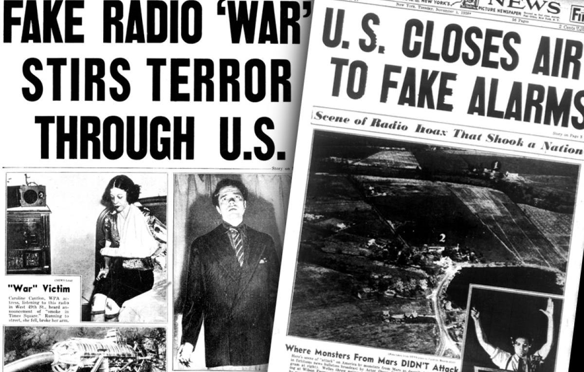 Progressive Hysteria, Mass Delusions, War of the Worlds Orson Welles