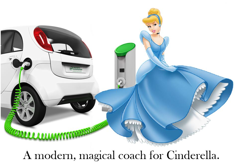 Disney Cinderella electric car