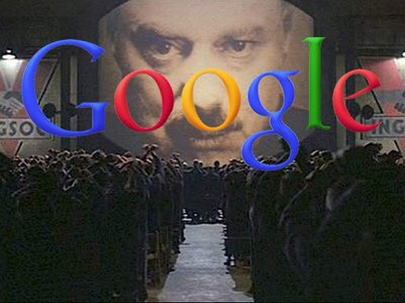 Google Logo Orwell Big Brother