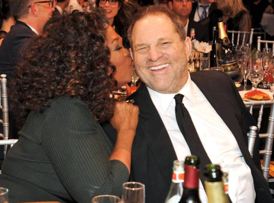 Oprah Winfrey and Harvey Weinstein
