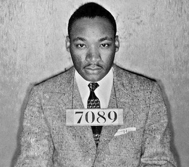 Civil Disobedience Martin Luther King mugshot