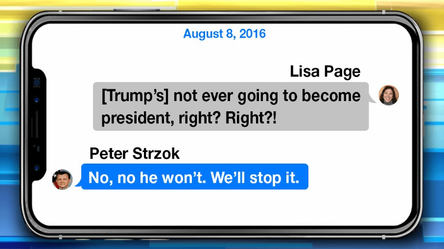 IG Report revealed Strzok text