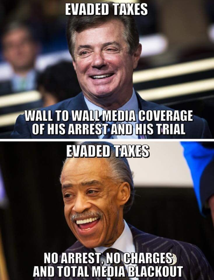 Tax fraud Sharpton Manafort