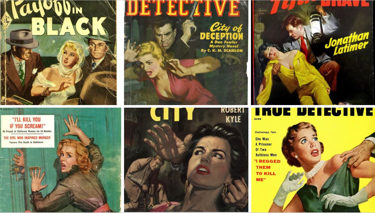 Rape Pulp Magazine covers