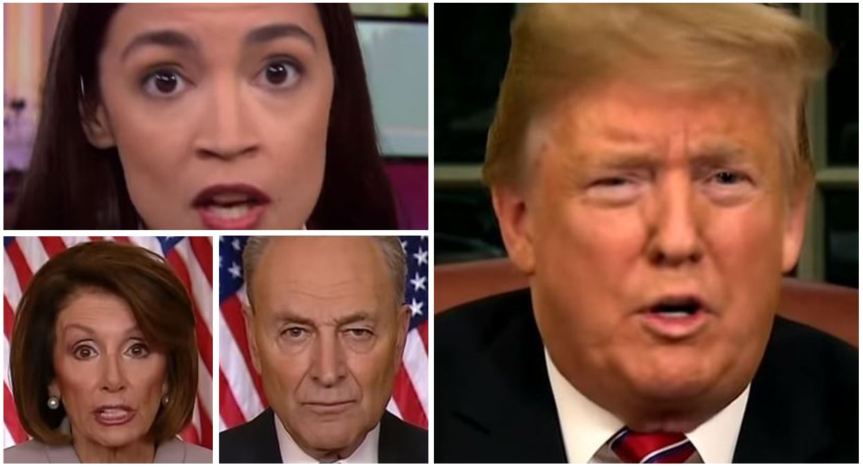 Border Wall Immigration Trump Pelosi Schumer Ocasio-Cortez